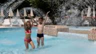 Happy kids in the pool video