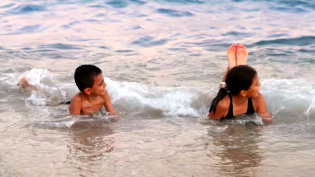Happy Kids Playing at Sea video