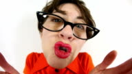 Happy Kissing Nerd Woman video