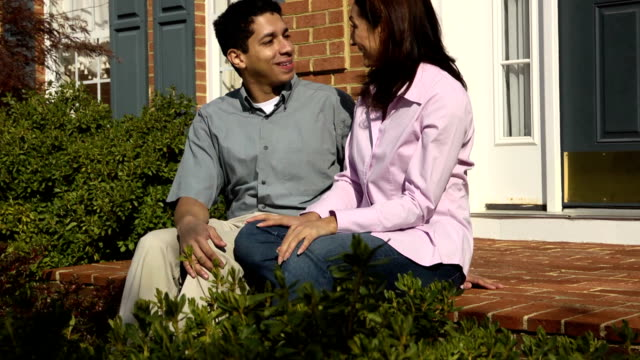 Happy Latin Couple in Front of Home video