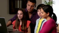 Happy Latin Family Video Conferences with Relatives video