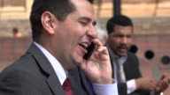 Happy Laughing Business Man Talking On Phone video
