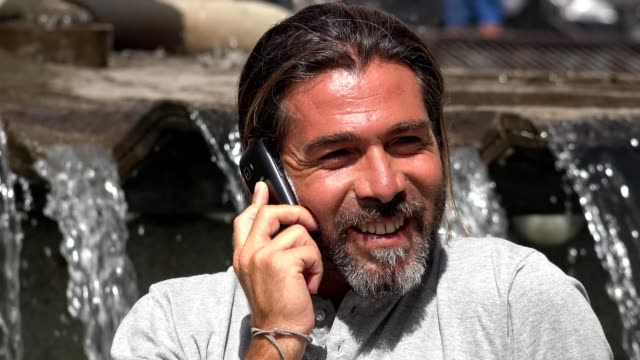 Happy Man Talking On Cell Phone video