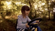 Happy Memories Of Her Young Days- A Child of Tree Drive Go-chart, Off-Road video