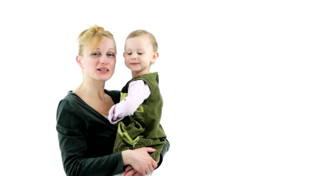 Happy mother and child in the maternal arms. Good relationship. video