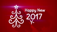 happy new 2017 year greeting loop video