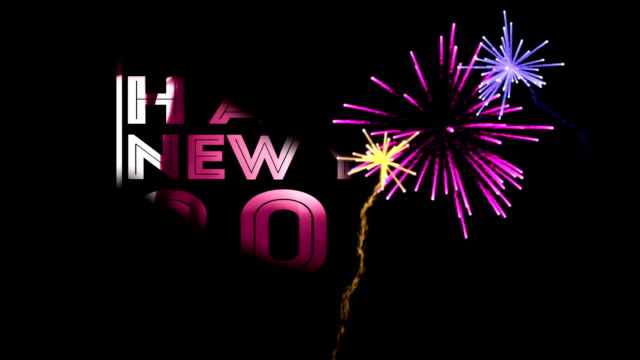 Happy New Year Colorful Transparent video