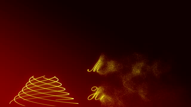 Happy New Year  type animation. video