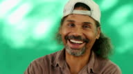 Happy People Portrait Of Hispanic Man With Goatee Laughing video