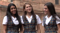 Happy People Smiling Teen Girls video