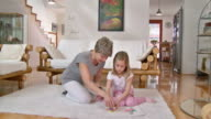 HD: Happy Playful Little Girl With Grandmother video