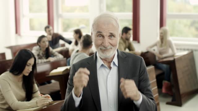 Happy professor video