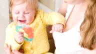 Happy rattle in baby hands video