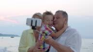 Happy selfie with grandparents video