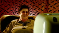 Happy senior woman video