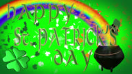 Happy St. Patrick's Day seamless 4K loop video