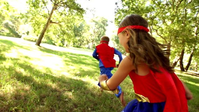 Happy superhero children video