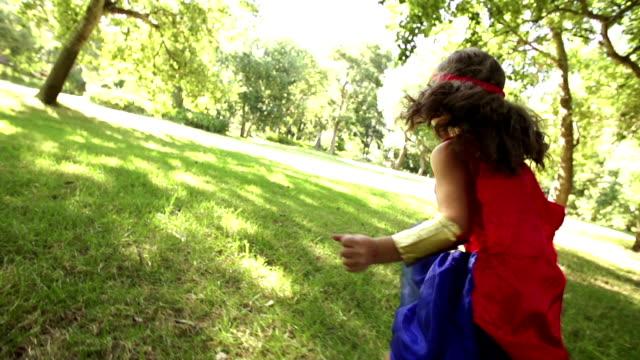 Happy superhero girl video