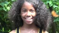 Happy Teen African Girl video
