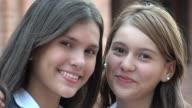 Happy Teen Girls Smiling video