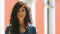 Happy teen portrait video