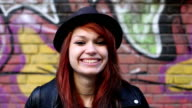 Happy teenage girl video