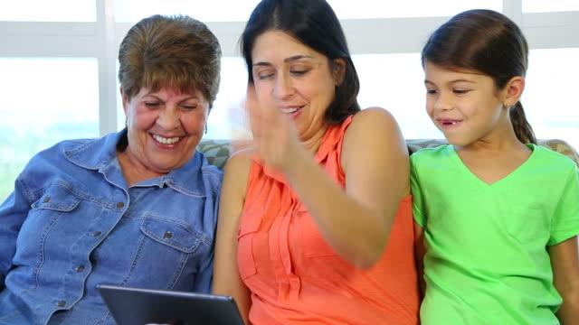 Happy Three Generation of Hispanic Latino women video