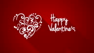 happy valentine's day greeting animation video