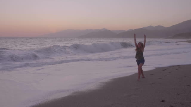 Happy Woman at the Beach video