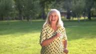 Happy woman is dancing. video