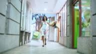 HD: Happy Woman Shopping video