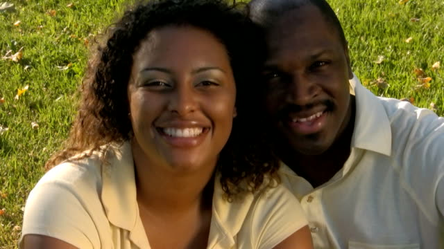 Happy young black couple. Version 1. video