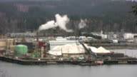 Harbor Factory Pollution (HD 1080p30) video