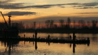 Harbor Fishboat and Fishermen, Steveston video