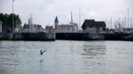 Harbor in Trouville, France video