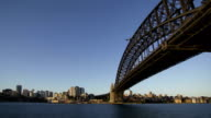 Harbour Bridge and North Sydney (day to night) video