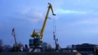 Harbour cranes video