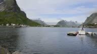 HD TIME-LAPSE: Harbour on Lofoten video