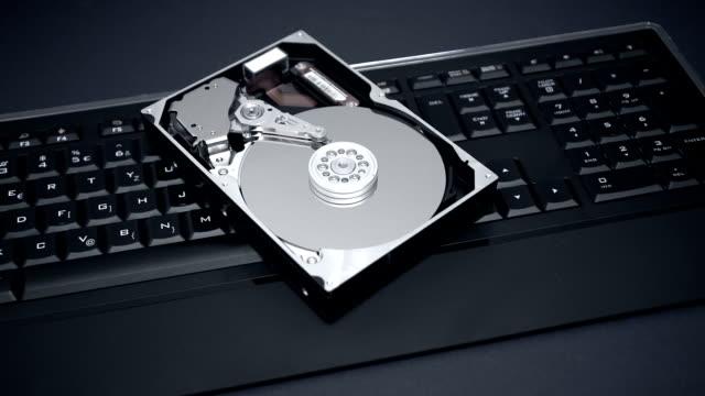 Hard drive on top of illuminated keyboard video