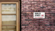 Harley street sign. The world's most famous street of Harley Street in London. video