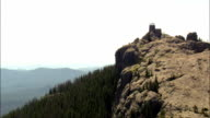 Harney Peak And Look Out Tower  - Aerial View - South Dakota,  Pennington County,  United States video