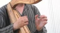 Harp playing video