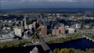 Hartford From the East  - Aerial View - Connecticut,  Hartford County,  United States video