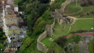 Hastings Castle  - Aerial View - England,  East Sussex,  Hastings District,  United Kingdom video