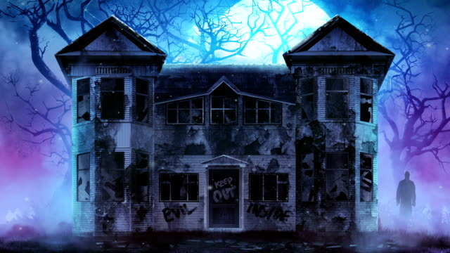 Haunted horror house video. video