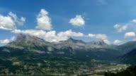 Haute Savoie Alps mountain valley Passy city video