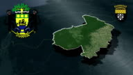 Haut-Ogooue - Franceville whit Coat of arms animation map video
