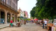 4K Havana Cuba, Quiet Shopping Area on Side Street, Downtown video