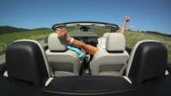 SLO MO Having A Ride In Convertible video