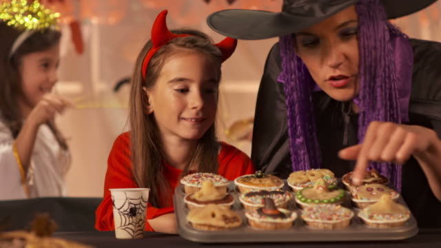 HD: Having Fun At Halloween Party video